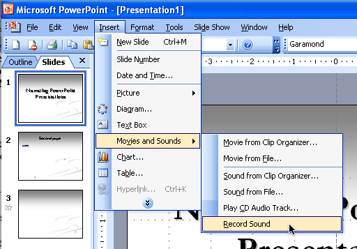 Random Tech Notes » Adding narration (or other sound) to PowerPoint